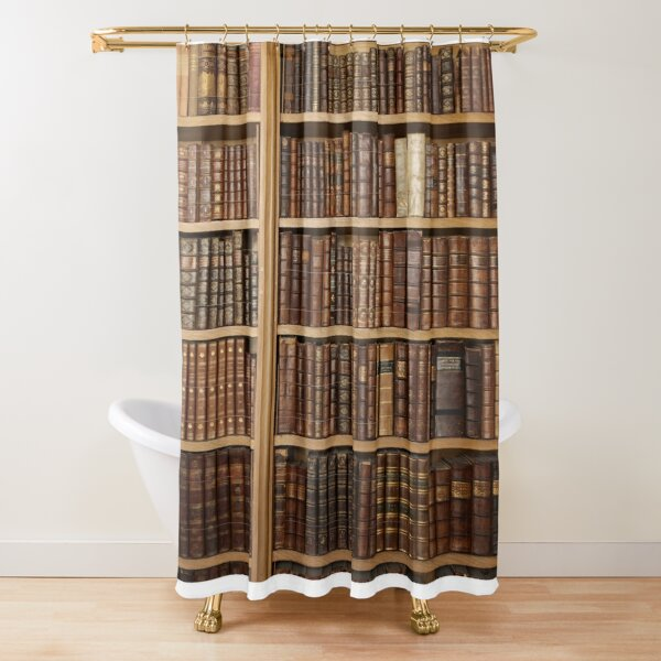 Bookcase with old books Shower Curtain