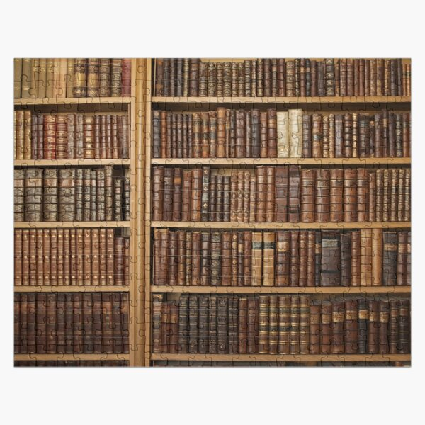 Bookcase with old books Jigsaw Puzzle