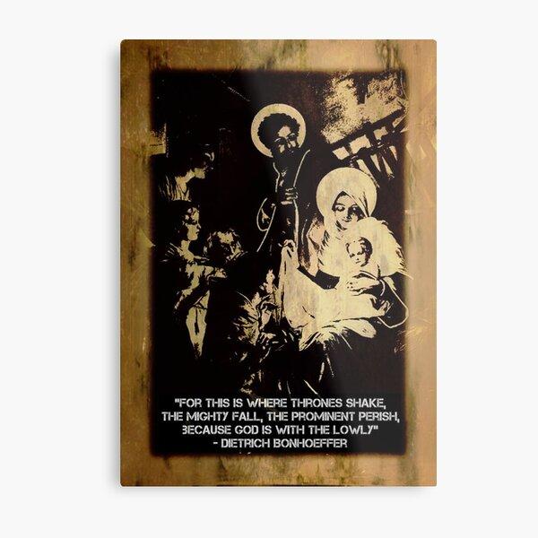 Bonhoeffer Christmas Print  Metal Print