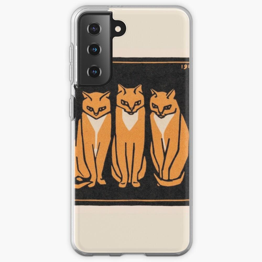 Three cats (1916) Case & Skin for Samsung Galaxy
