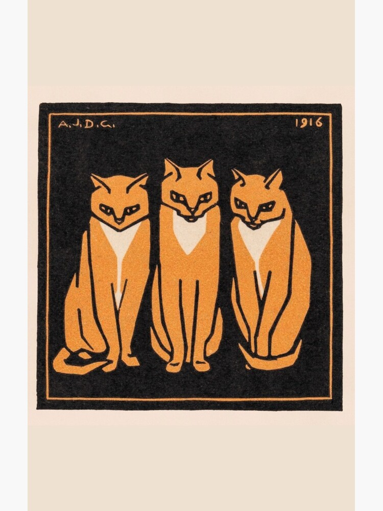Three cats (1916) by webcaff-design