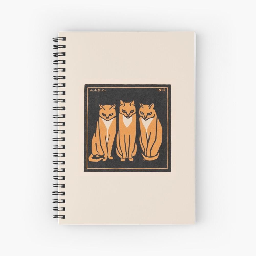 Three cats (1916) Spiral Notebook