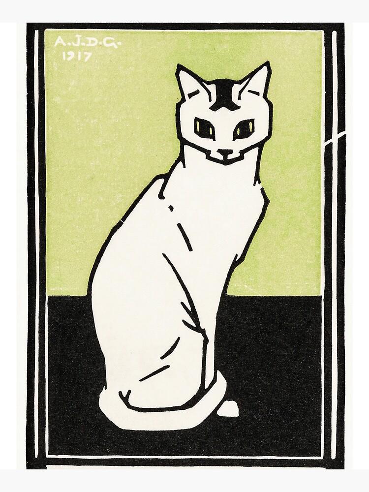 Sitting cat (1917) by Julie de Graag (1877-1924). by webcaff-design