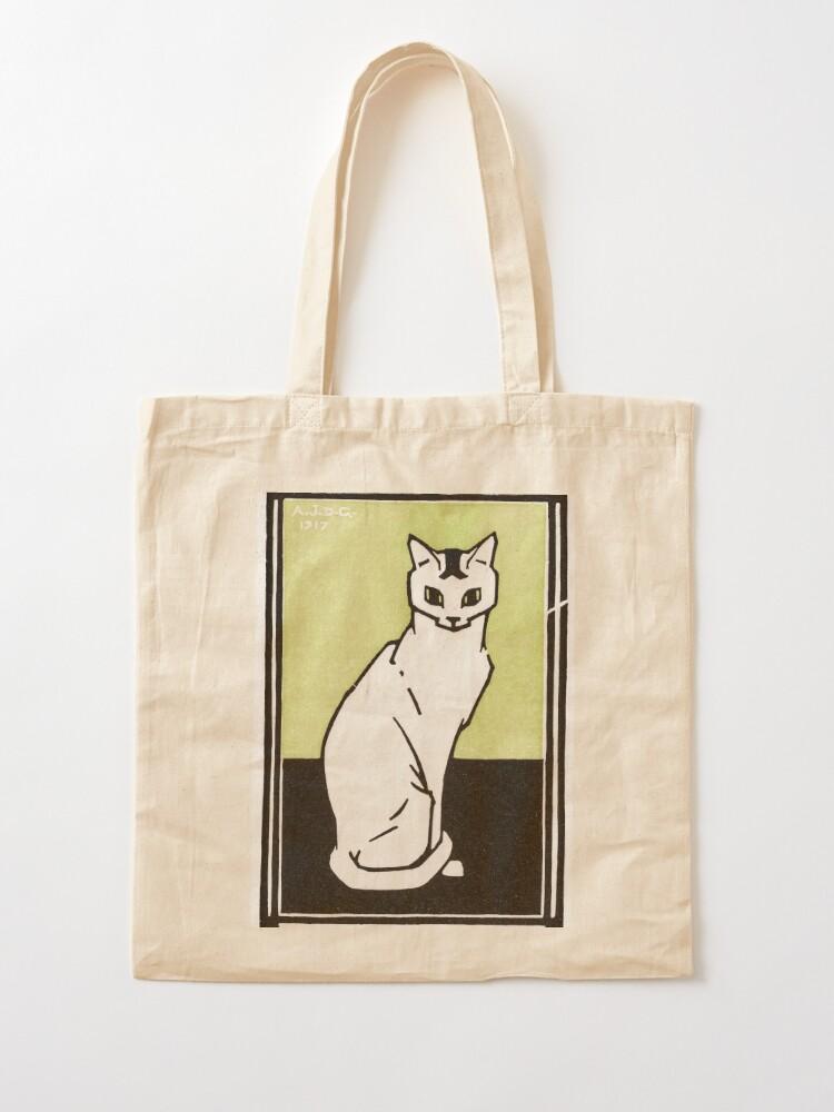 Alternate view of Sitting cat (1917) by Julie de Graag (1877-1924). Tote Bag