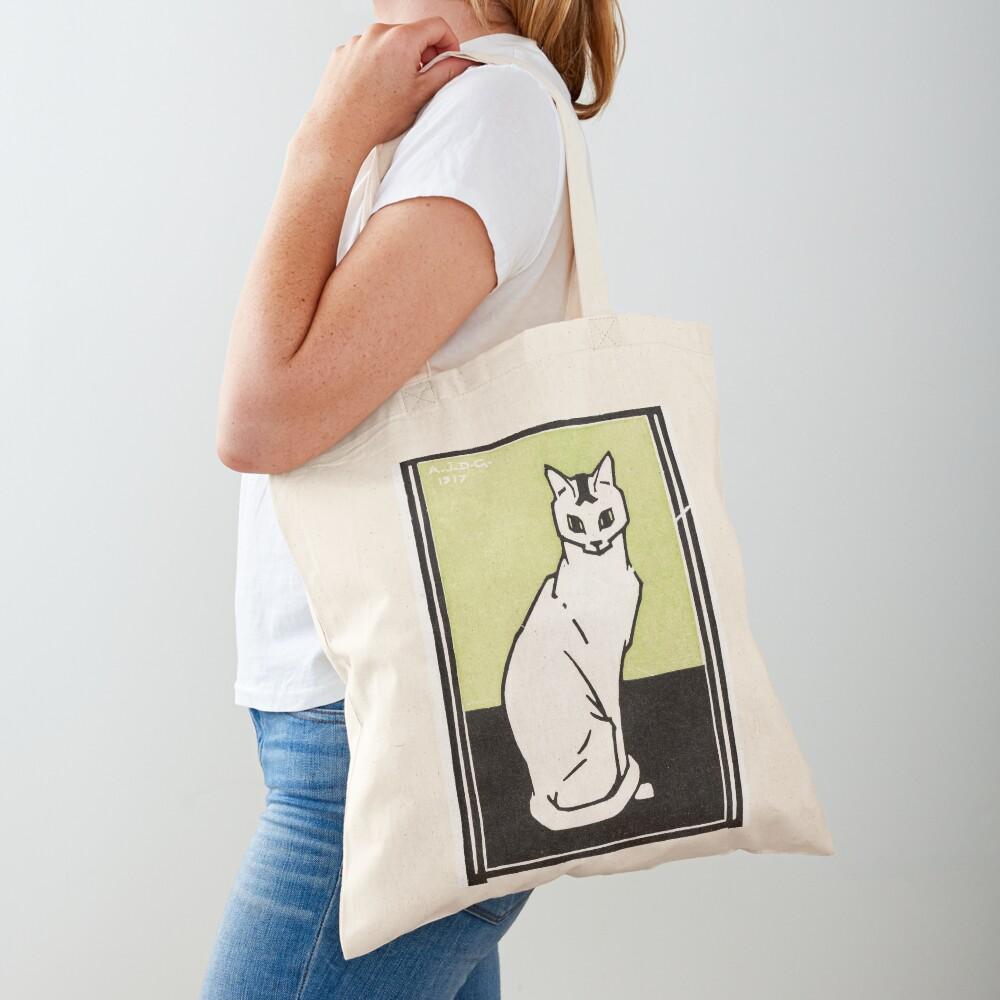 Sitting cat (1917) by Julie de Graag (1877-1924). Tote Bag