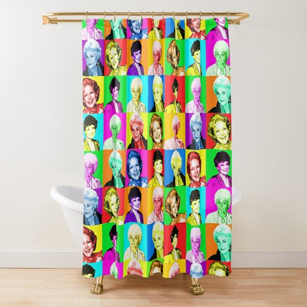 Golden Girls - Thank You For Being A Friend - Andy Warhol Print Pattern Shower Curtain