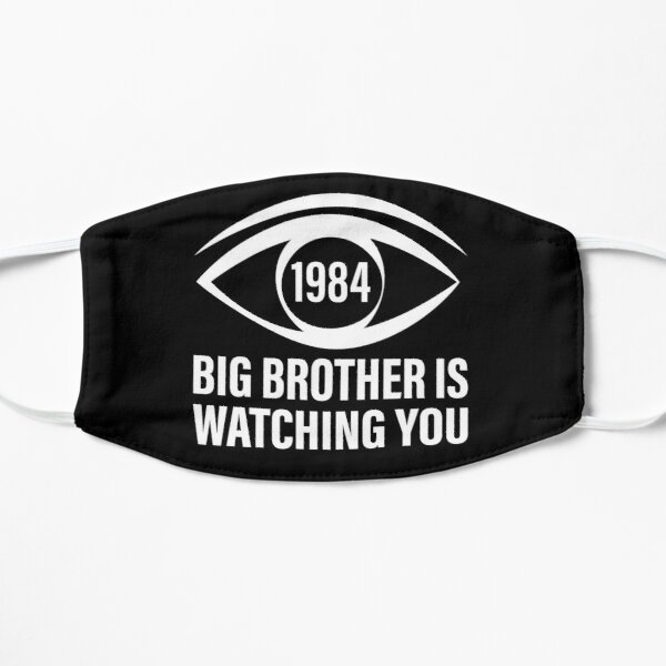 Big Brother is Watching You (George Orwell, 1984) Flat Mask