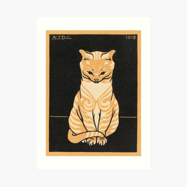 Sitting Cat (1918) Art Print