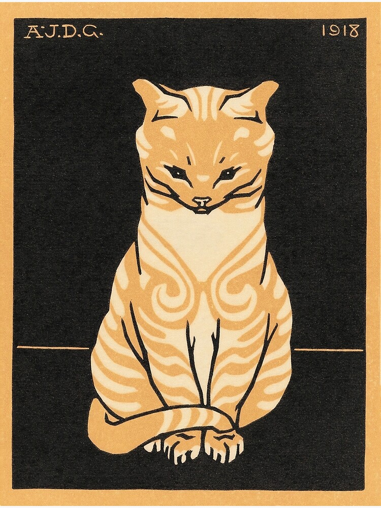 Sitting Cat (1918) by webcaff-design