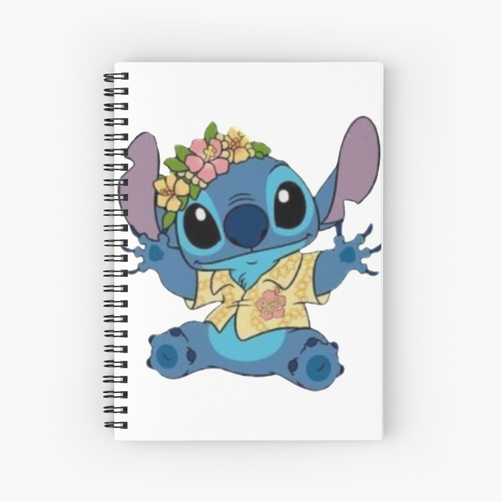 Lilo And Stitch Hello Spiral Notebook By Weshop23 Redbubble