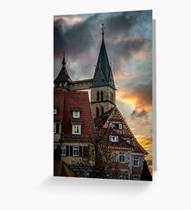 As the Sun Sets on the Market  Greeting Card