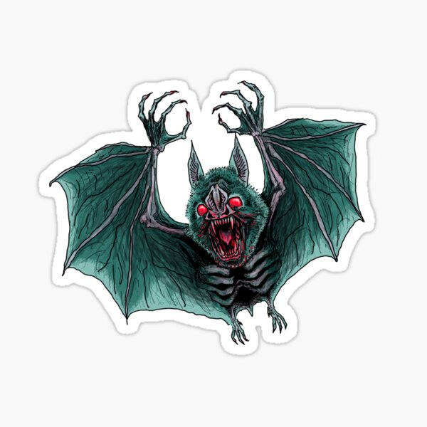 Vampire Bat! Sticker