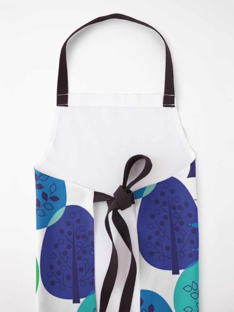 Alternate view of Blue Green Abstract Trees Apron