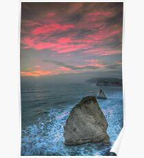 Freshwater Bay Sea Stacks Poster