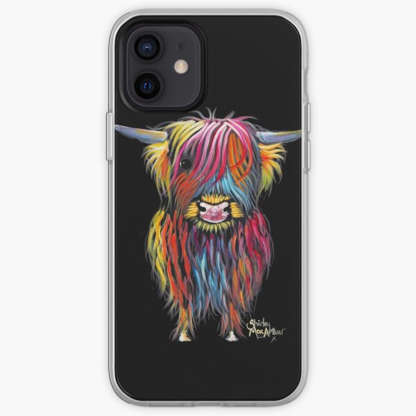 Scottish Hairy Highland Cow ' BRAVEHEART ' by Shirley MacArthur iPhone Soft Case