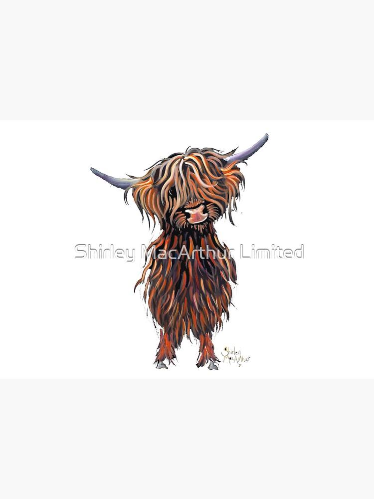 Scottish Hairy Highland Cow ' WEE MAC ' by Shirley Macarthur by ShirleyMacA