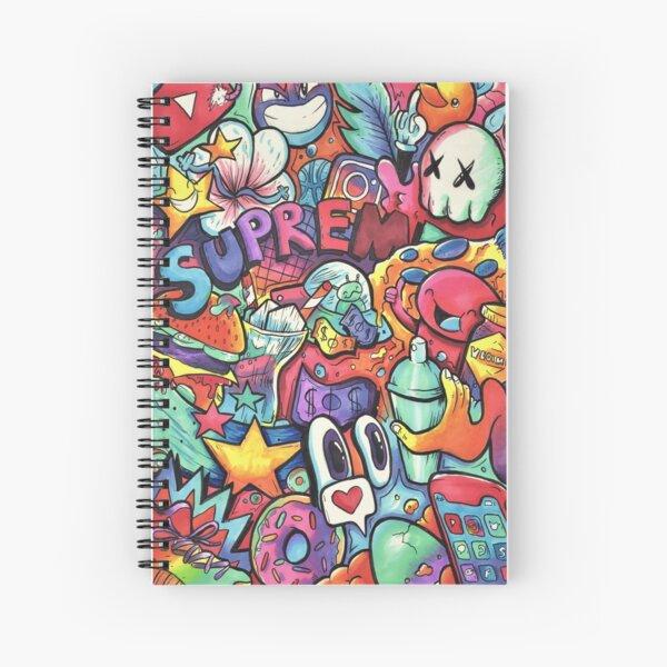 SUPREME // Copic Marker Doodle Spiral Notebook
