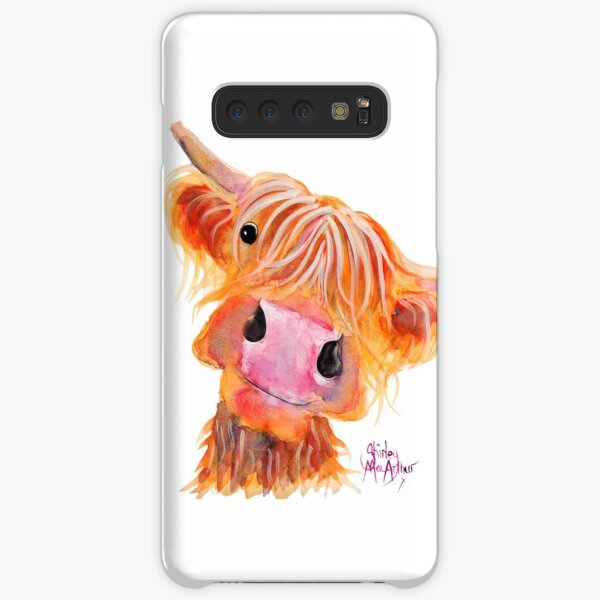 Highland Cow 'NESSIE' aus dem Originalgemälde von Shirley MacArthur Samsung Galaxy Leichte Hülle