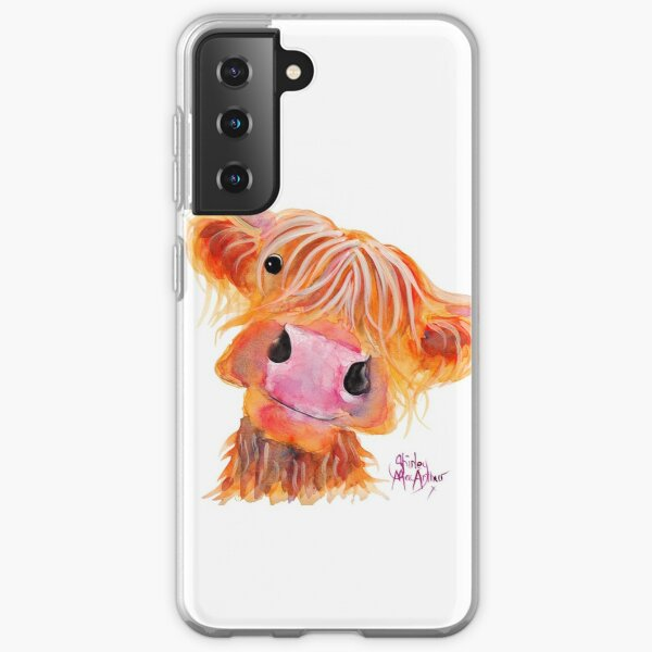 Highland Cow 'NESSIE' from Original Painting by Shirley MacArthur Samsung Galaxy Soft Case