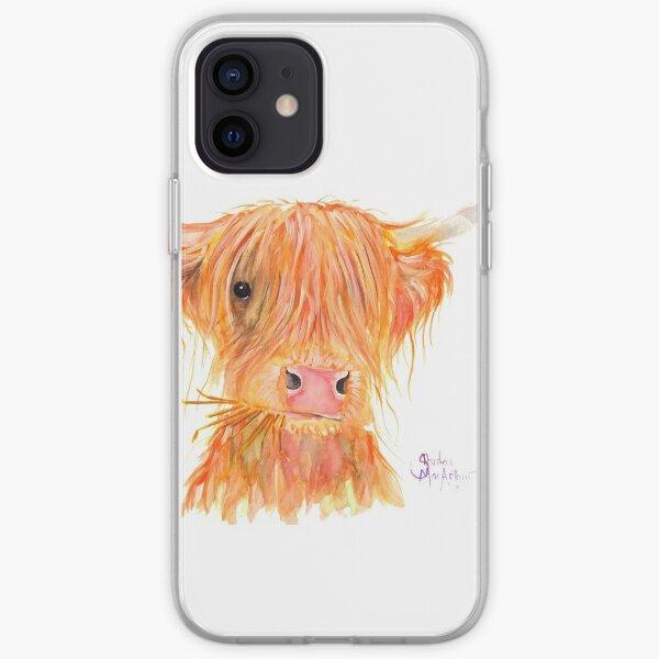 SCOTTISH HIGHLAND COW 'FERGUS' By Shirley MacArthur iPhone Soft Case