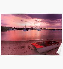 Pink sky at night sailors delight! Poster