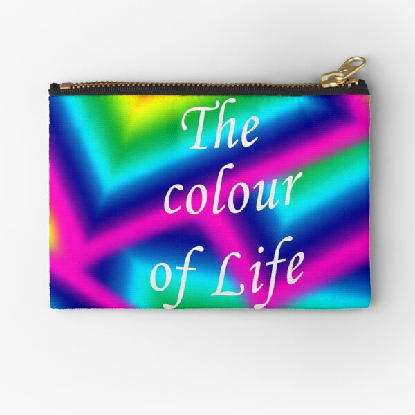 Colour Of  Life for Redbubble Zipper Pouch