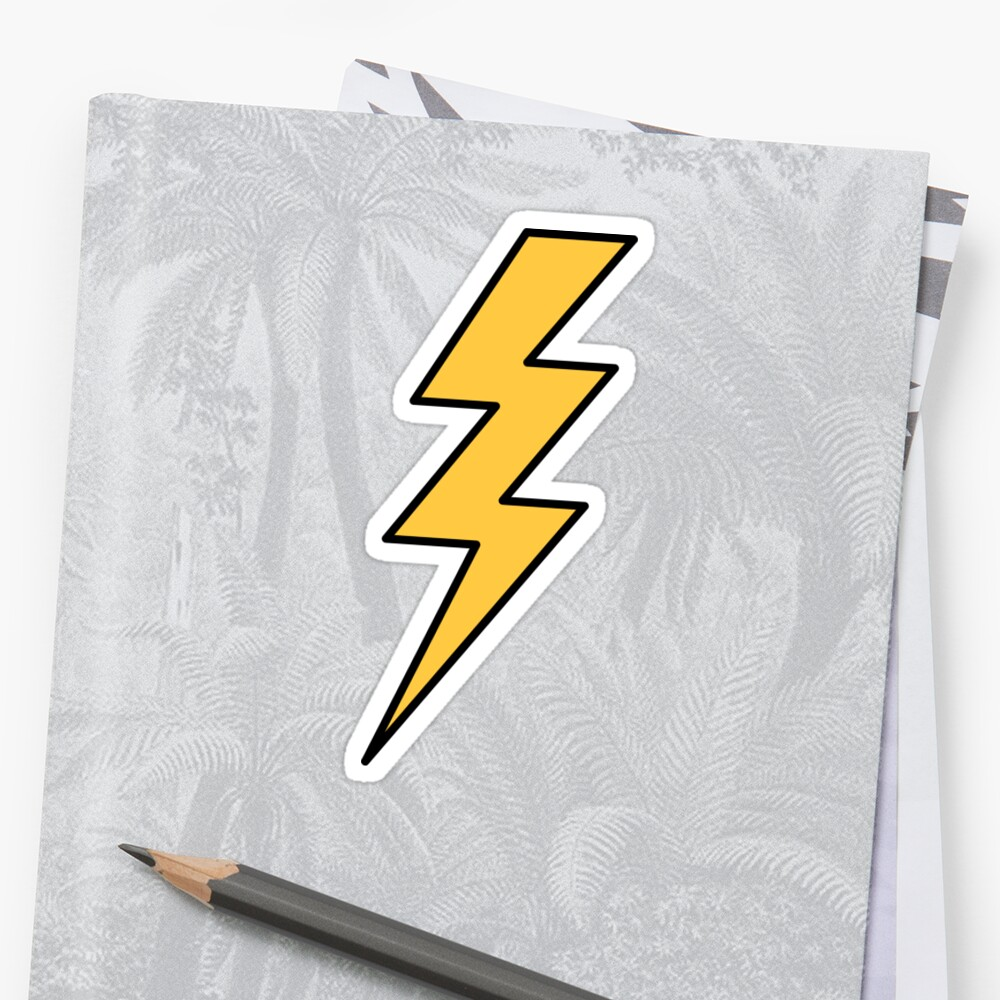 Lightning bolt - yellow with black outlines by Mhea
