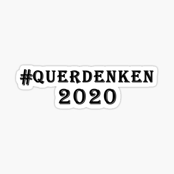 Querdenken 2020 Sticker