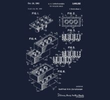 Lego Patent - Dark Background | Unisex T-Shirt
