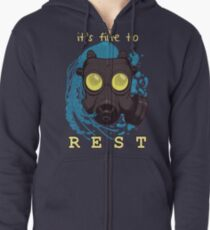 It's fine to rest. Zipped Hoodie
