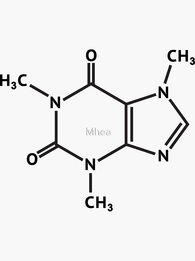 Caffeine molecule molecular structure by Mhea