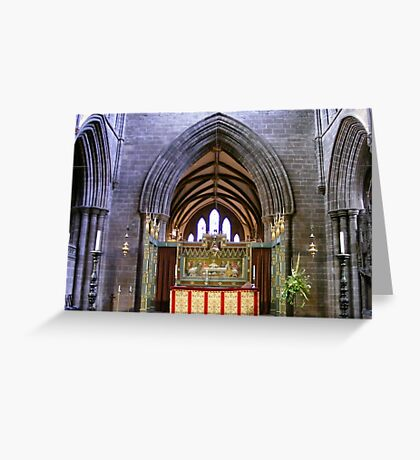 Altar  in Chester Cathedral, Greeting Card