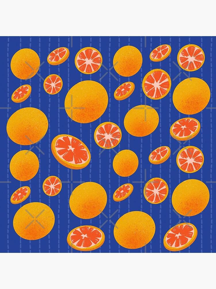 Grapefruit on Indigo by MaeganCook