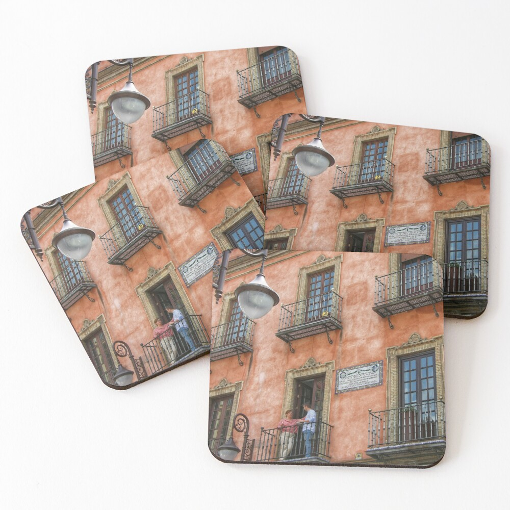 Colourful Seville Architecture  Coasters (Set of 4)