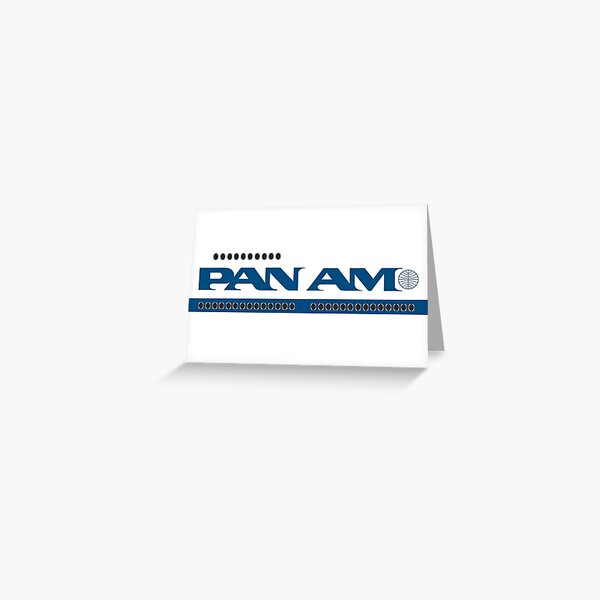 Pan Am 747 Style Greeting Card