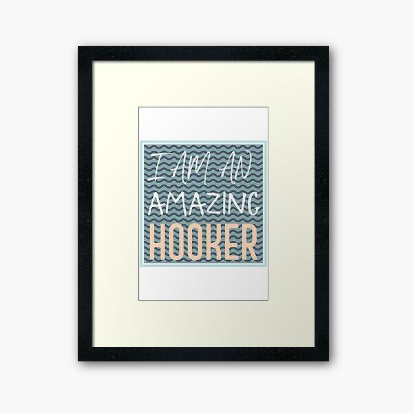 Knitting (wavy saying) Framed Art Print