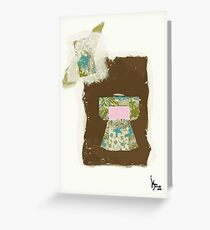 blue and pink kimono Greeting Card