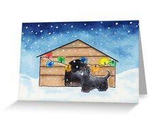Scottie Dog 'Xmas Kennel' Greeting Card