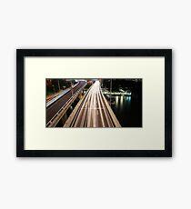 Multiple Exposure | Pacific Motorway Framed Print