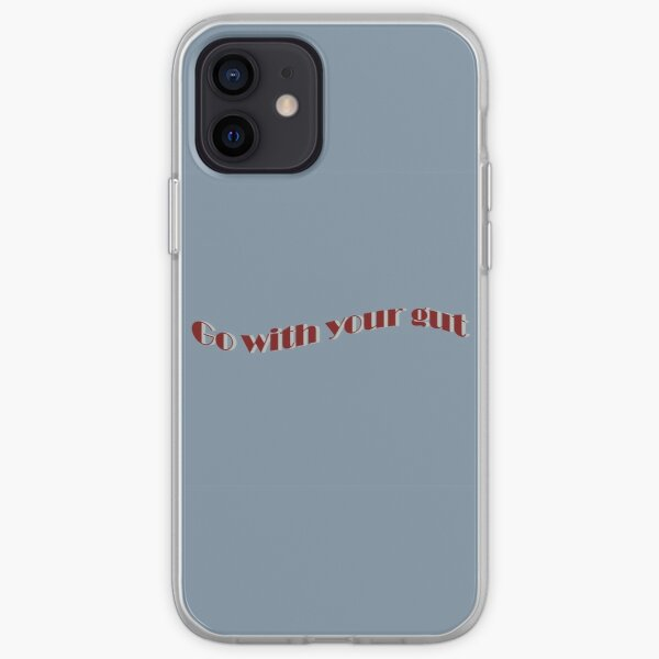 Go with your gut iPhone Soft Case