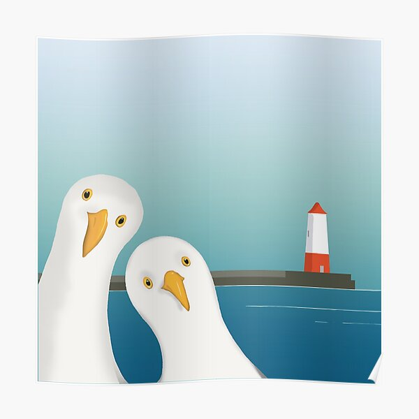 A seagull's Welcome Poster