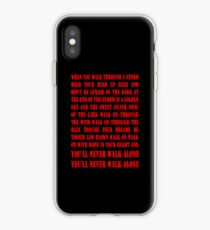 You'll Never Walk Alone - RED iPhone Case