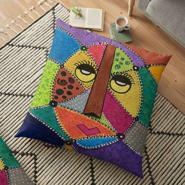 African Jamaican Princess Floor Pillow