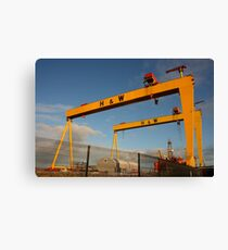 Samson And Goliath Canvas Print
