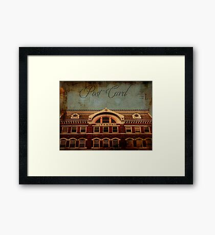 The Clermont Building Kingston NY Framed Print