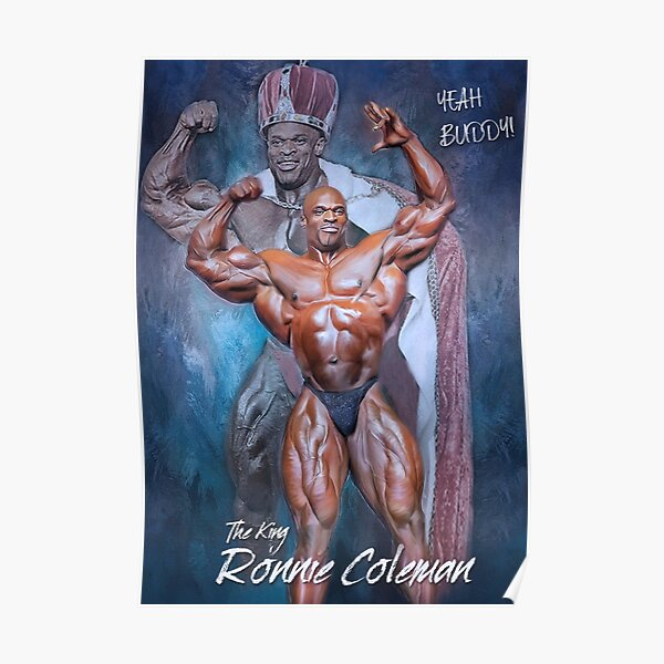Ronnie Coleman Herr Olympia Bodybuilding Art Poster