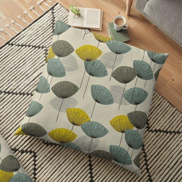Scandinavian orla kiely design Floor Pillow