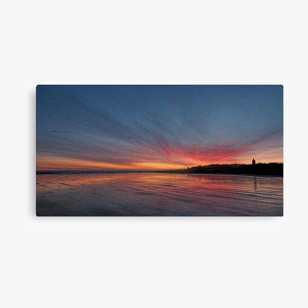 Sunrise over the beach at St Andrews, Scotland Canvas Print