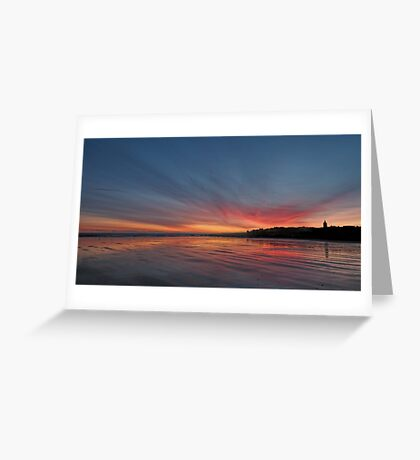 Sunrise over the beach at St Andrews, Scotland Greeting Card