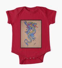 blue dragon parchment card One Piece - Short Sleeve